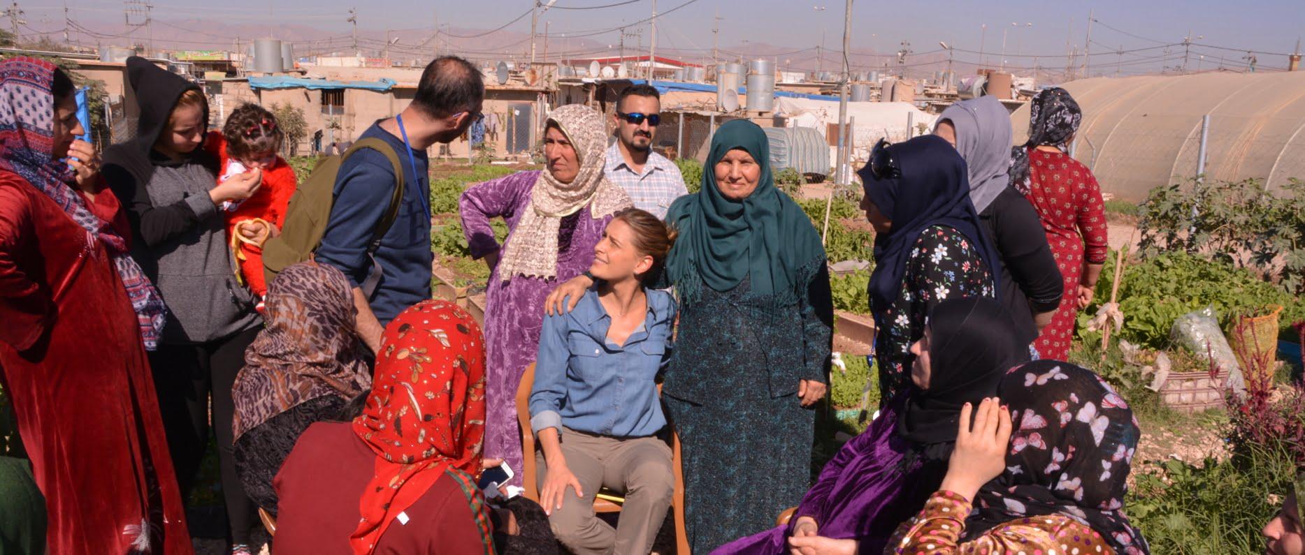 Community gardeners meet Tatiana Blatnik