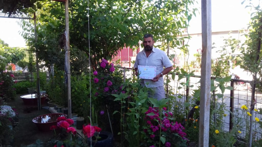 2019 Lemon Tree Trust garden competitions - Domiz 1 camp runner-up - Ahmad Sabri