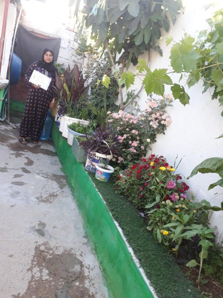 2019 Lemon Tree Trust garden competitions - Domiz 1 camp runner-up - Aisha Ahmad's garden