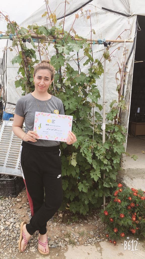 2019 Lemon Tree Trust garden competitions - Khanki camp - runner-up Amal Murad