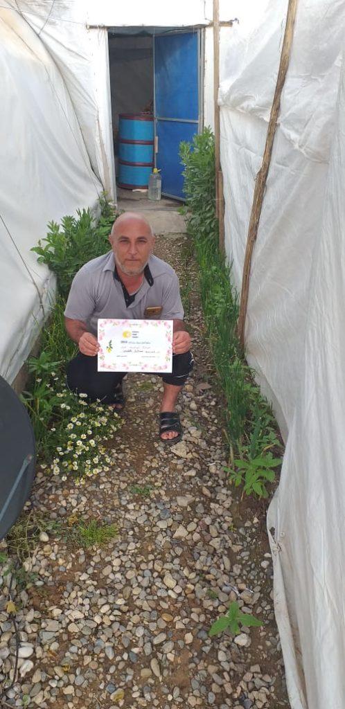 2019 Lemon Tree Trust garden competitions - Kabartu 2 camp - runner-up Bashar Kolos