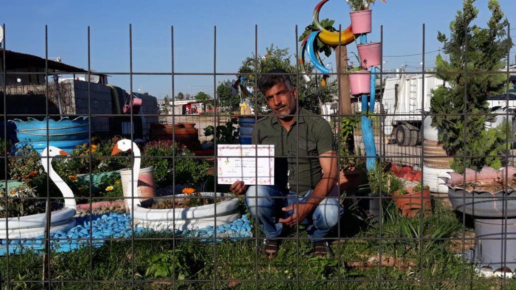 2019 Lemon Tree Trust garden competitions - Domiz 1 camp 2nd prize - Isam Murad