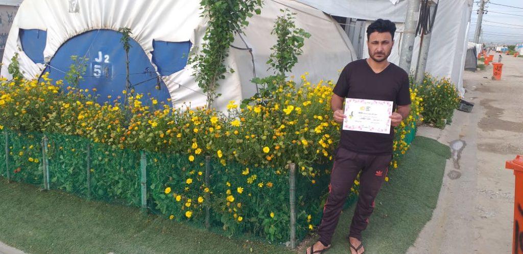 2019 Lemon Tree Trust garden competitions - Kabartu 2 camp - runner-up Khalaf Barakat