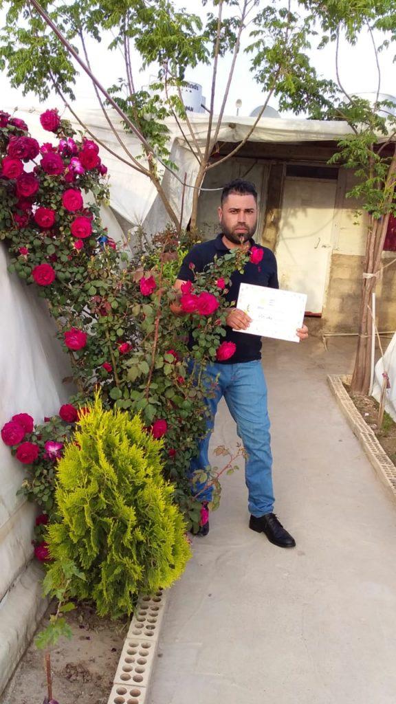 2019 Lemon Tree Trust garden competitions - Kabartu 1 camp - 1st place prize winner Khalid Murad