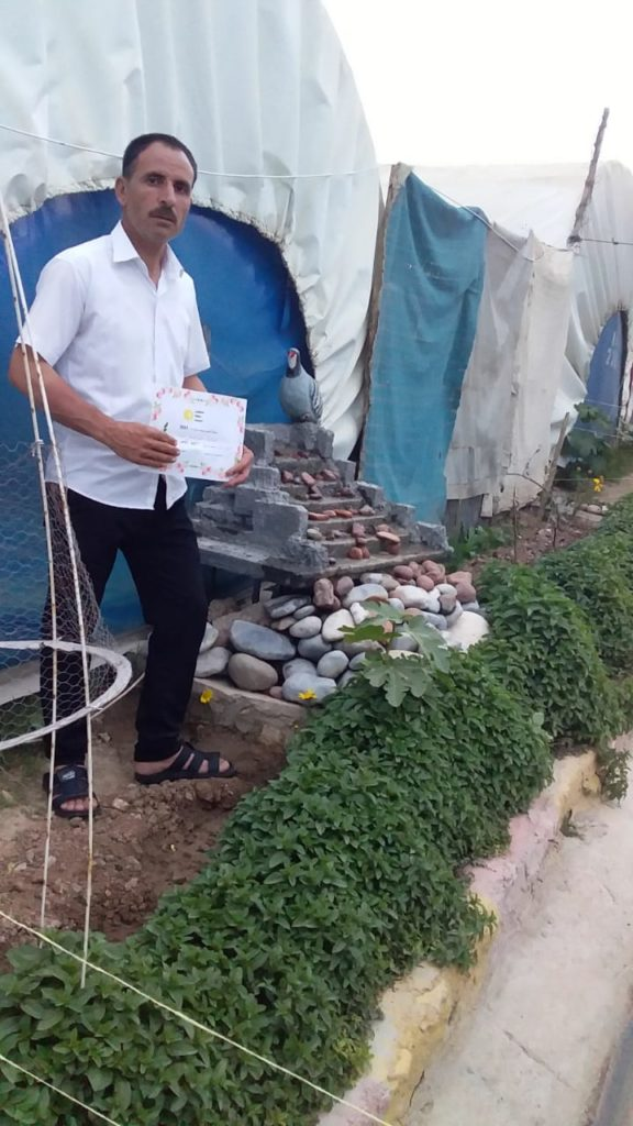 2019 Lemon Tree Trust garden competitions - Kabartu 2 camp - 3rd place prize winner Khero Qasim