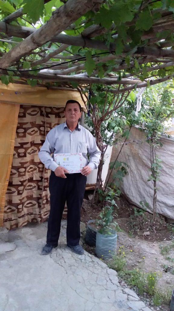 2019 Lemon Tree Trust garden competitions - Kabartu 1 camp - 3rd place prize winner Mshko Ali