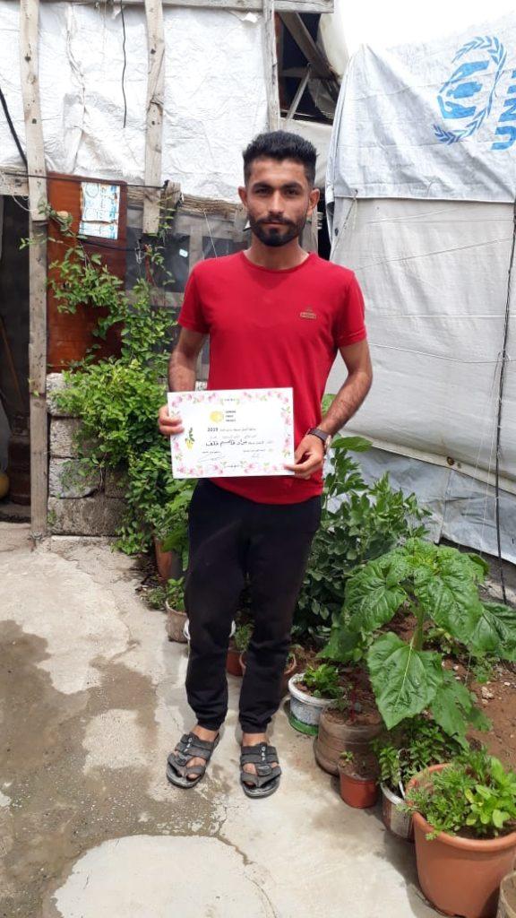 2019 Lemon Tree Trust garden competitions - Khanki camp - runner-up Murad Khalaf