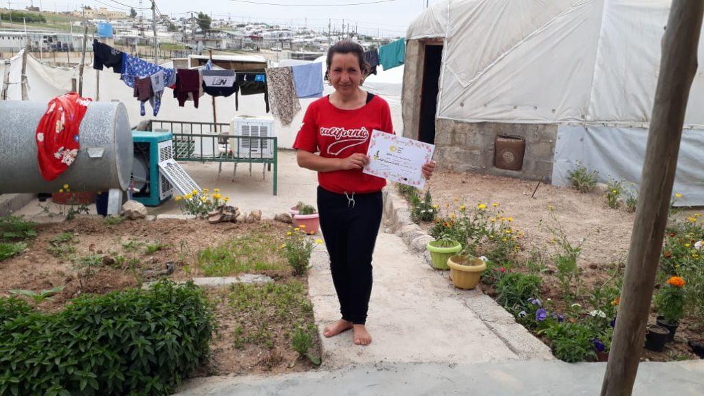 2019 Lemon Tree Trust garden competitions - Khanki camp - 3rd place prize winner Nahida Elias