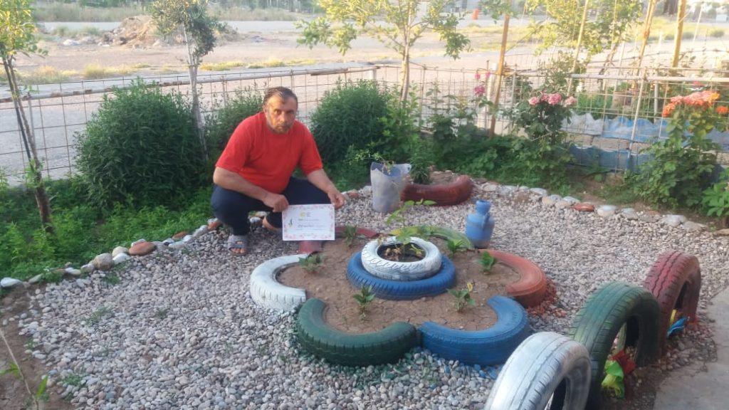 2019 Lemon Tree Trust garden competitions - Domiz 1 camp runner-up - Rathwan Abdal Baqy