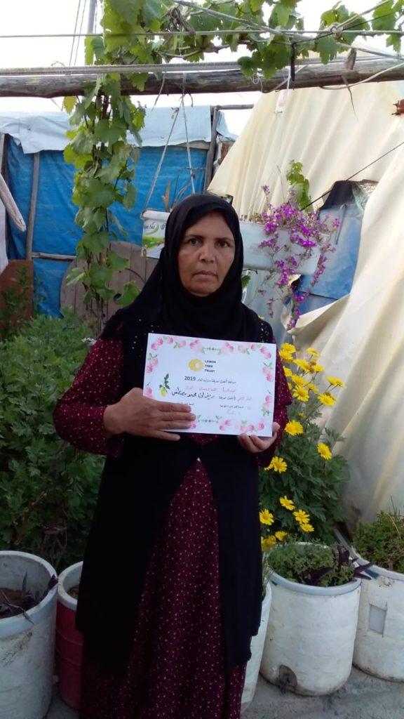 2019 Lemon Tree Trust garden competitions - Kabartu 1 camp - 2nd place prize winner Rizan Muhamad