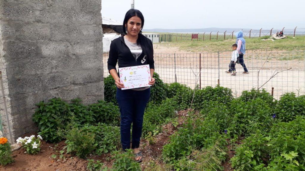 2019 Lemon Tree Trust garden competitions - Khanki camp - runner-up Thyab Khalaf