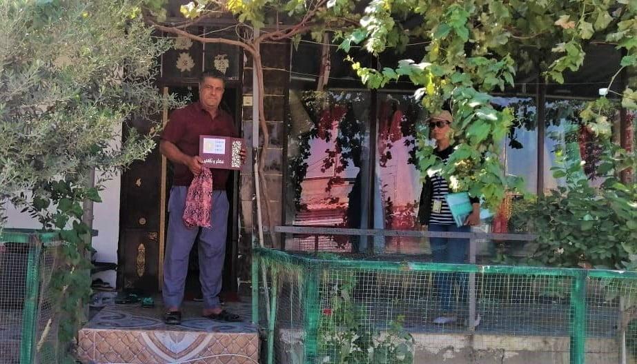Garden of the Month winner Felroz, Rizgari neighborhood of Domiz camp, Kurdistan Region of Iraq