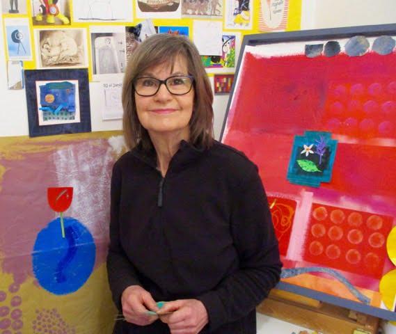 Linda Combi in her art studio
