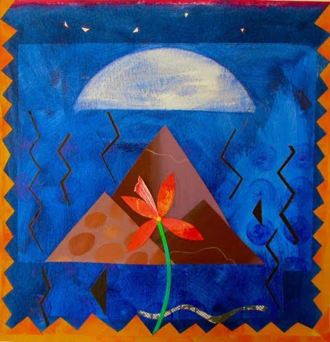 'Desert Flower' illustration by Linda Combi