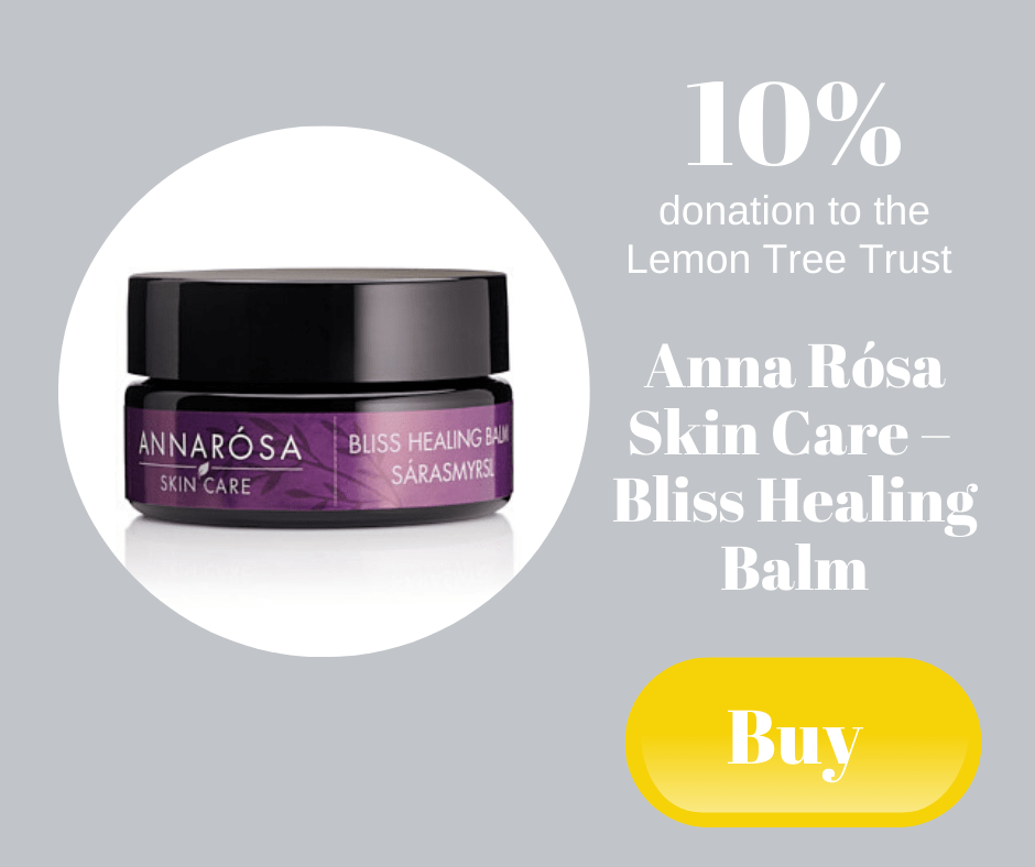 10% donation to the Lemon Tree Trust - Anna Rosa Skin Care Bliss Healing Balm