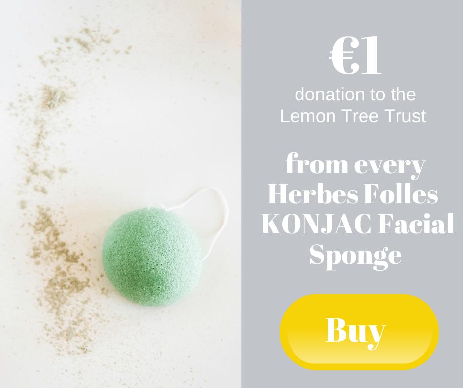 €1 donation to the Lemon Tree Trust - from every Herbes Folles KONJAC Facial Sponge