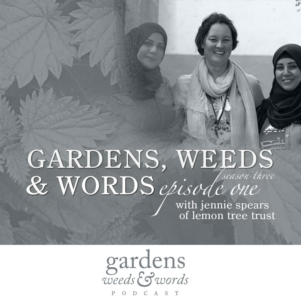 Gardens, Weeds & Words podcast graphic