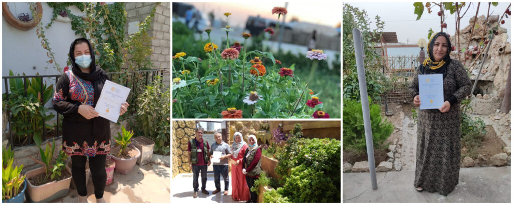 Photographs of individual garden winners in the LTT Garden Competitions 2021.